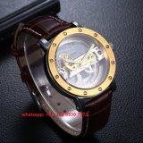 Relógio automático elegante considerável com a cinta de couro genuína para os homens Fs504