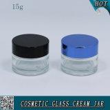 vaso di vetro vuoto cosmetico di vetro trasparente della crema di fronte di 15g 1/2 oncia