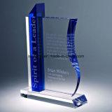 Fabrik-Großhandelskristallglas-Buch-Form-Preis-Trophäe