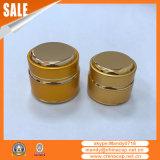 Опарник оптовой пользы ногтя золотистый алюминиевый Cream с крышкой