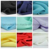 女性のためのT-Shirt Fabric 100%年のポリエステル絹のジョーゼット軽くて柔らかいファブリック