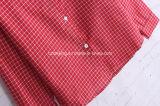 Camicia di cotone rossa del `S delle donne del plaid