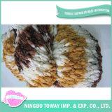 Fio extravagante de tecelagem de confeção de malhas do algodão do poliéster do laço de lãs