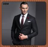 人のための合わせたウールの細い縦縞ビジネス細い適合のスーツ