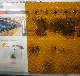 식물상 패턴 (CP-FP)를 가진 3mm-8mm 명확한 착색된 구른 돋을새김된 유리
