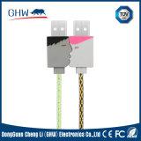 熱い恋人円形の甘い力USBケーブル2.1A