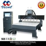 Ranurador plano del CNC de la carpintería de la máquina de grabado de las Multi-Pistas