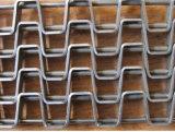 食品加工の熱処理のためのステンレス鋼の平たい箱の金網ベルト