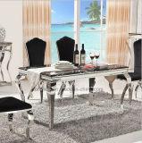 現代優雅な緩和されたガラス表の食堂の家具A8029