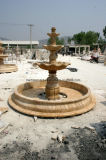 Fontana di marmo beige a tre livelli (SY-F017)