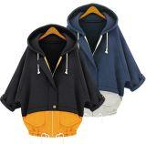 女性のための方法ジッパーの接合箇所のHoodieの卸し売り新しいコート