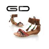 Sandales plates à la mode