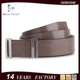Form-kundenspezifischer Marken-Firmenzeichen-Export-echte Rindleder-Leder-Metallfaltenbildung-Riemen