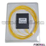 1X8 Fiber Optical PLC Splitter com Mini Steel Tube Package