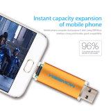 Smartphone人間の特徴をもつUのディスクのためのOTG USBのフラッシュ駆動機構USB 2.0のペン駆動機構8GB 16GB 32GB 64GBのメモリ棒4GBの金属Pendrive