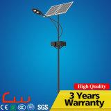 Réverbère solaire innovateur de la liste 60W 100W DEL de prix concurrentiel de constructeurs avec Pôle