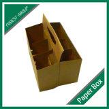 Kraft reciclado caja de papel para de 6 paquetes de cerveza Carriers