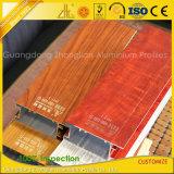 القسم الألومنيوم خشبي إنهاء مع نقل PVDF الحرارة الخشب الحبوب