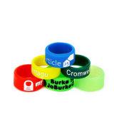 Kundenspezifischer Silikon-Finger-Band-Firmenzeichen-Druck
