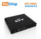 Ax5 Amlogic S905X 인조 인간 6.0 텔레비젼 상자 고정되는 최고 상자