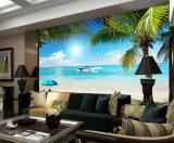 Het in het groot Digitale Strand van het van de Achtergrond druk Behang Van uitstekende kwaliteit van het Landschap van de Aard Tropische