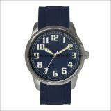 アーム簡単なゴム製ステンレス鋼の人の腕時計