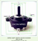 Commutateur de position d'Excon de Taiwan de commutateur rotatif de la qualité Mfr01 d'UL