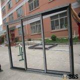 3 Spur-Aluminiumrahmen-Schiebetür, Fenster, Aluminiumfenster, Aluminiumfenster, Glastür K01093