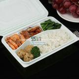 5개의 격실에 의하여 경첩을 다는 간이 식품 처분할 수 있는 플라스틱 음식 쟁반