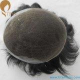人のための薄い皮シリーズ人間の毛髪の置換のToupee