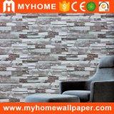 Papel de empapelar casero del PVC de la piedra 3D de la decoración para el material de construcción