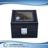 Caja de embalaje de madera/del papel de lujo de la visualización para el regalo de la joyería del reloj (xc-dB-010d)