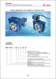 Velocidad variable con el gusano de caja de cambios y motor