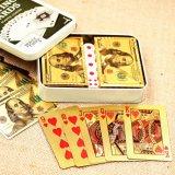 24 tarjetas que juegan plateadas puras certificadas del póker de la hoja de oro del quilate de K con 52 tarjetas y el regalo inusual especial de 2 bromistas