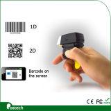Fs02 Scanner van Bluetooth van de Code van Qr van de Lezer van de Streepjescode van Coms van de Ring van de Vinger de 2D, de Lezer van de Code Qr voor Logistiek