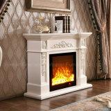 Meubles électriques de découpage blancs européens simples d'hôtel de cheminée de chauffage (322S)