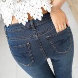 Jeans élevés de femmes de denim de crayon de taille de vente chaude
