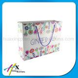 ハンドルが付いている顧客用再生利用できるアートペーパーのショッピング・バッグ