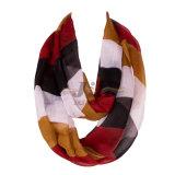 Bufanda larga de Hijab de las mujeres grandes de la raya del color del contraste basada en la gasa 80s