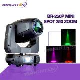 Zoom principal móvil profesional del punto de la iluminación 250W LED