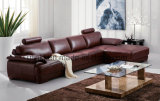 Sofà di cuoio classico del salone domestico moderno della mobilia (UL-NS073)