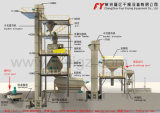 Машина для гранулирования удобрения хлористого аммония, уменьшает загрязнение пыли