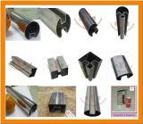 Corrimano rotondo/quadrato scanalato dell'acciaio inossidabile decorativo del tubo
