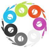 다채로운 5V 2A 국수 이동 전화 지능적인 전화를 위한 편평한 TPE 물자 USB 데이터 케이블