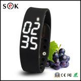 спорта отслежывателя пригодности Wristband полосы индикации СИД 3D браслет W2 франтовского франтовской с калориями шагомер