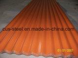Telha de telhado ondulada do metal/chapa de aço revestida Aluzinc da cor