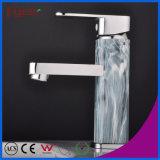 Fyeer Chrom überzogener lackierter einzelner Griff-Messingbassin-Hahn-Badezimmer-Wannen-Wasser-Mischer-Hahn Wasserhahn
