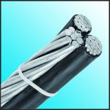 Aluminium, ACSR, AAC Leiter XLPE Belüftung-obenliegend zusammengerolltes Luftkabel