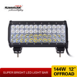 Barra chiara di riga LED del CREE IP67 144W Trible fuori strada
