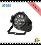 Arco iris efecto interior LED PAR puede luces 7X10W RGB 4-en-1 etapa luces